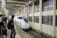 HIROSHIMA, Shinkansen in hiroshima, Japan. 2016 Royalty Free Stock Images