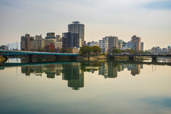 Hiroshima skyline cityscape in Japan Royalty Free Stock Images