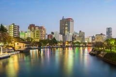 Hiroshima skyline cityscape in Japan Stock Photo