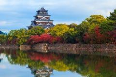 Hiroshima slott Arkivfoto
