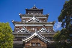 Hiroshima slott. Japan Arkivbild