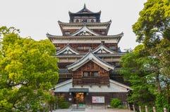 Hiroshima slott, Japan Arkivbilder