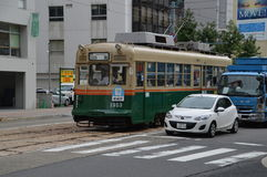 Hiroshima spårvagn nummer 9 Royaltyfria Foton