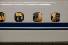 Hiroshima station. Closed up train at Hiroshima station Royalty Free Stock Photos