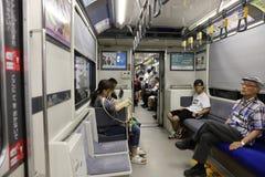 the Hiroshima subway system at japan Stock Image