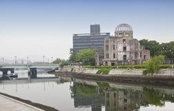 HIROSZIMA, JAPONIA MAY 27: Widok na atomowej bomby kopule w Hiroszima Japonia UNESCO światowego dziedzictwa miejsce na Maju 27,20 Obraz Royalty Free