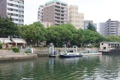 Hiroszima linia horyzontu i Ota rzeka w Japonia Zdjęcie Royalty Free