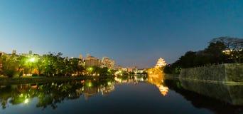 Hiroszima miasta światła odbicie Zdjęcia Royalty Free