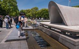 Hiroszima pokoju Pamiątkowy park fotografia royalty free