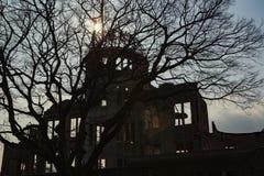Hiroszima pokoju pomnik - Genbaku kopuła obraz royalty free
