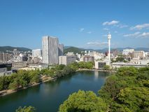 Hiroszima przegląd, Japonia obraz royalty free