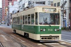 Hiroszima tramwaj Obrazy Stock