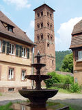 Hirsau Fountain. The old abbey of Hirsau near Calw in the Black Forest in Germany is one of the oldest and most interesting abbeys in Germany Stock Photography