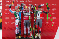 HIRSCHER Marcel - PINTURAULT Alexis - LIGETY Ted Images libres de droits