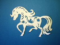 Horse. Paper cutting. Royalty Free Stock Images