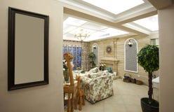 Hirtenartwohnzimmer stockbild