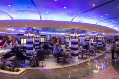 Bar on the MSC Fantasia Royalty Free Stock Photo