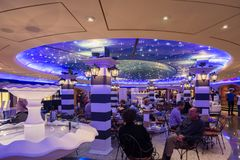 Bar on the MSC Fantasia Stock Photos