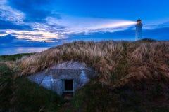 Hirtshals latarnia morska Zdjęcia Stock