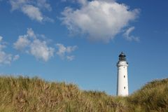 Hirtshals lighthouse in Denmark Stock Photography