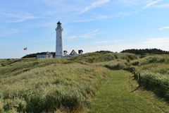 Hirtshals Lighthouse Royalty Free Stock Image