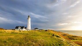 Hirtshals Lighthouse Stock Photo