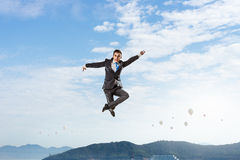 His active position in life Royalty Free Stock Photo