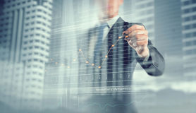His business growth and progress Stock Images