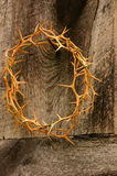His Crown. Crown of Thorns on cross Stock Photos