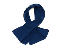 His dark blue scarf for winter. Stock Photography