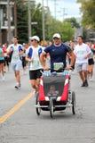 His first marathon royalty free stock photo