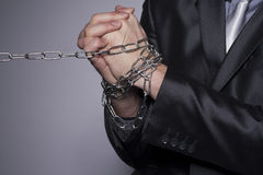 His hands are in chains Royalty Free Stock Photography
