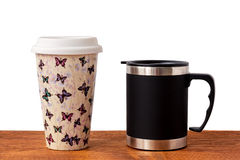 His and Her  Mugs Royalty Free Stock Photography
