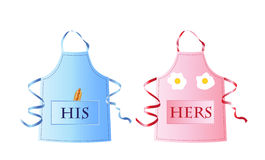 His and Hers aprons Royalty Free Stock Images