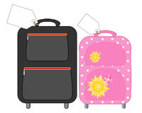 His and hers luggage Stock Photography