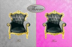 His and Hers Throne Stock Photography