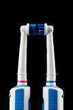 His and Hers Toothbrushes Royalty Free Stock Images