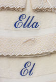 His and hers towels in Spanish Royalty Free Stock Images