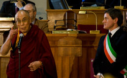 His Holiness Dalai Lama Royalty Free Stock Photo