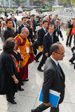 His Holiness the Dalai Lama in Hiroshima Peace Memorial Park Stock Photography