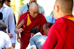 His Holiness the XIV Dalai Lama Tenzin Gyatso Royalty Free Stock Photo