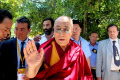His Holiness the XIV Dalai Lama Tenzin Gyatso Stock Photo