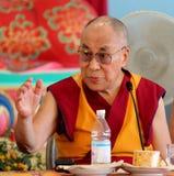His Holiness the XIV Dalai Lama Tenzin Gyatso. Photographed in Pomaia (Pisa, Italy) during the conference Lama Tsong Khapa Institute Stock Photos