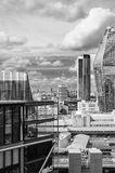 London, Sky line, Black and White, View from Tate Modern stock photo
