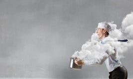 His recipe of success . Mixed media . Mixed media Stock Photography