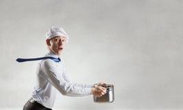 His recipe of success . Mixed media Stock Photography