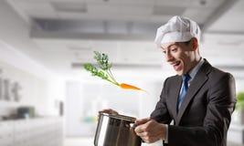 His recipe of success . Mixed media Royalty Free Stock Photo