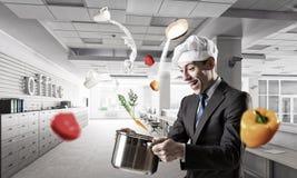 His recipe of success . Mixed media Stock Images