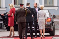 His Royal highness Crown Prince Haakon and her Royal highness Crown Princess Mette-Marit of the Kingdom of Norway ar stock photography