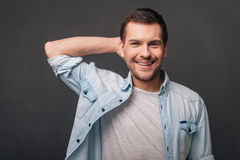 His smile is amazing! Stock Image